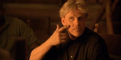 Gary Busey as Doc in Surviving the Game, which is a movie called Surviving the Game starring Gary Busey as Doc, who's played by Gary Busey but isn't half as frightening as Craigula.