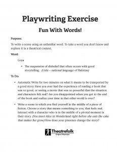 PlaywritingExerciseGoya