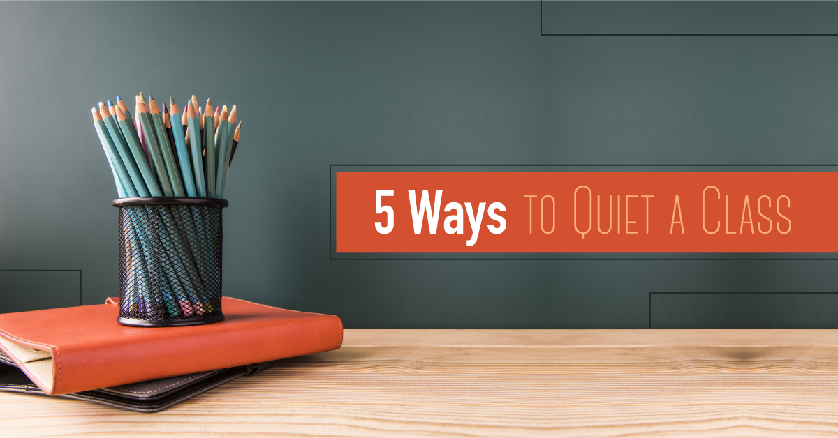 5 ways to quiet a drama class