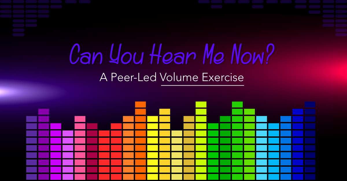 A peer led volume exercise