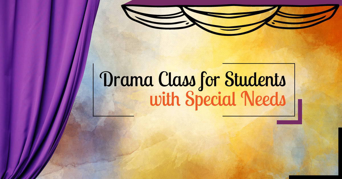 Drama class for students with special needs