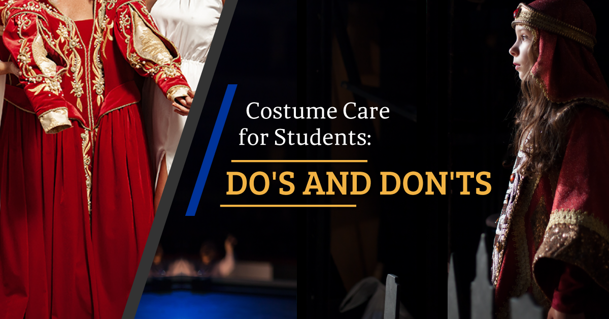 Costume Care Do's and Don'ts