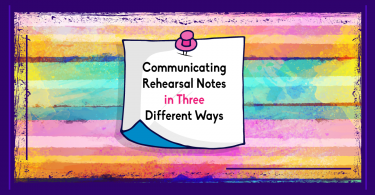 Communicating rehearsal notes